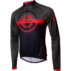 PEARL iZUMi Elite LTD Thermal LS Jersey Men, chain ring black/torch red/forest